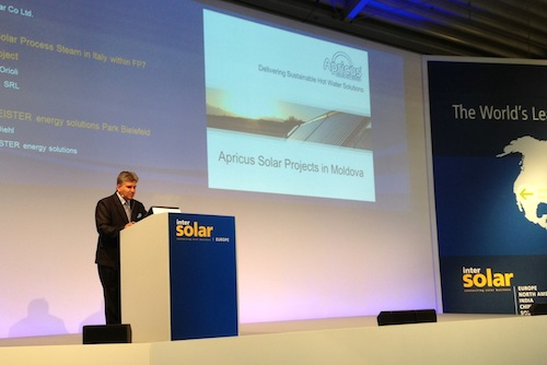 Apricus Presents at Intersolar Awards 2013